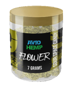Avid Hemp CBD Flower Sour Space Candy